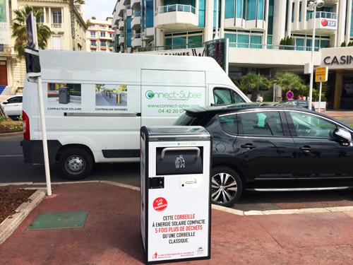 Cannes teste les poubelles du futur